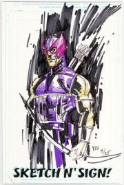 Call Of Duty #1 Jay Company Originals Sketch N Sign Keu Cha Remarked Hawkeye COA #4